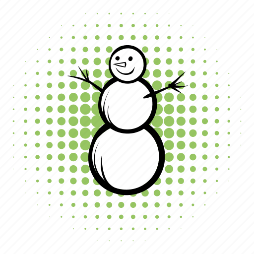 cold, comics, cute, funnies, hat, holiday, snowman icon