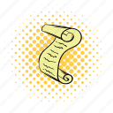 clip art, comics, copyspace, design, funnies, parchment, scroll icon