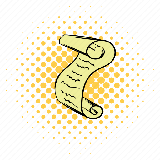 clip art, comics, copyspace, design, funnies, parchment, scroll icon