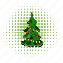 comics, fir, fir-tree, pine, spruce, tree, xmas icon