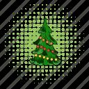 comics, fir, fir-tree, pine, spruce, tree, xmas