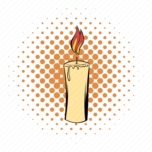 candle, comics, funnies, glow, lob, suppository, tree icon