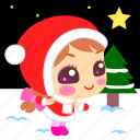 christmas, holy, night, snow, star, time, xmas icon