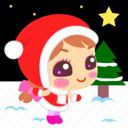 christmas, holy, night, snow, star, time, xmas icon