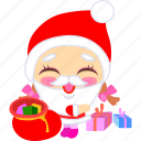 christmas, cute, father, presents, santa, xmas icon
