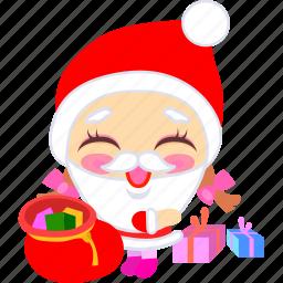 christmas, cute, father, presents, santa, xmas icon