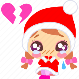 christmas, heartbreak, sad, xmas icon