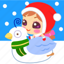 christmas, dove, snow, xmas icon