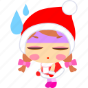 cartoon, christmas, rain, sad, sick, tired, xmas icon