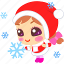 cartoon, christmas, cute, flake, snow, xmas icon