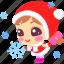 cartoon, christmas, cute, flake, snow, xmas icon
