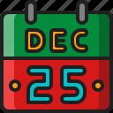calendar, merry, christmas, xmas, holiday, celebration, day