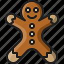 gingerbread, man, food, cookie, christmas, dessert, sweet