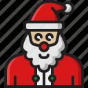 santa, claus, avatar, mascot, character, christmas, xmas