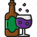 wine, glass, bottle, beverage, drink, alcohol, party