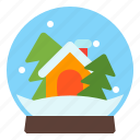 ball, glass, winter, xmas icon