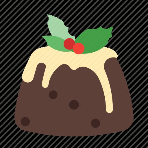 dessert, holiday, pudding, sweet, xmas icon