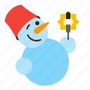 holiday, snow, snowman, winter icon