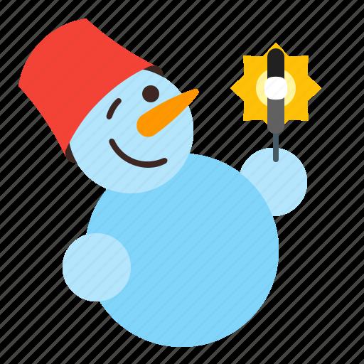 holiday, snow, snowman, winter icon