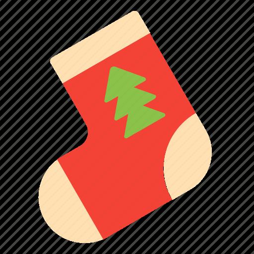 decoration, gift, sock, xmas icon