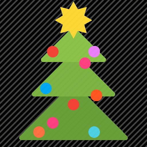 christmas, spruce, tree, xmas icon