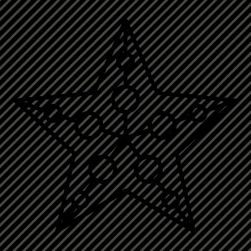 christmas, christmas decoration, christmas star, decoration, star icon