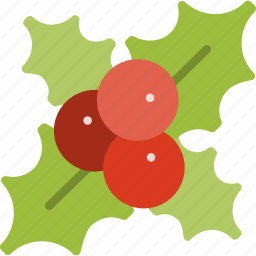 christmas, decoration, holiday, holly, leaf, winter, xmas icon