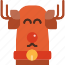 christmas, decoration, holiday, reindeer, winter, xmas icon
