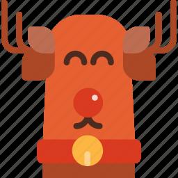 christmas, decoration, holiday, reindeer, winter, xmas icon