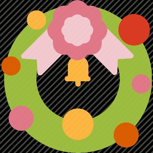 christmas, decoration, holiday, winter, wreath, xmas icon