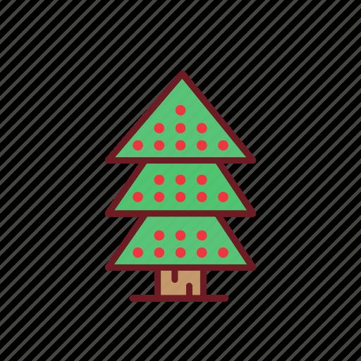 christmas, holiday, ornaments, tree icon