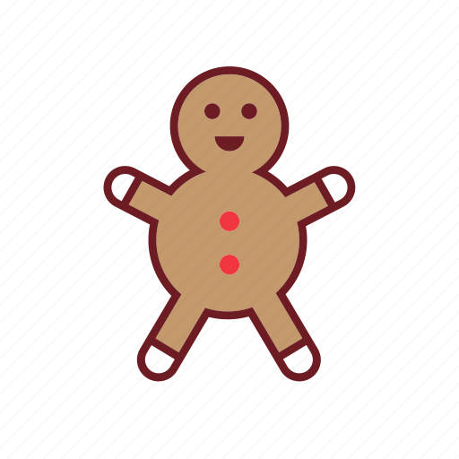 christmas, cute, gingerbread, holiday, ornaments icon