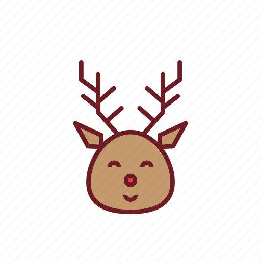 christmas, cute, holiday, ornaments, riendeers icon