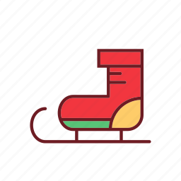 christmas, cute, holiday, ornaments, shoes, snowboarding icon