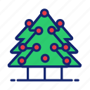 tree, green, red, christmas, plant
