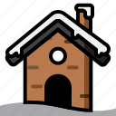 building, cold, home, house, ice, snow, winter icon