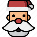 celebration, christmas, claus, hat, head, santa, xmas