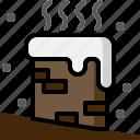 bricks, chimney, christmas, smoke, snow, winter, xmas icon