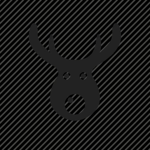 christmas, deer, reindeer, weather, winter icon