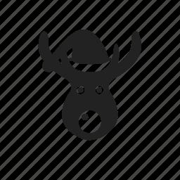 christmas, deer, reindeer, winter icon