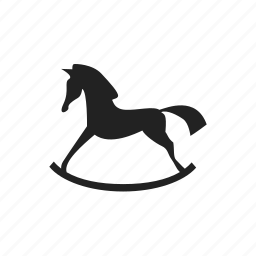 horse, hourse, rocking, swing icon