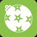 ball, celebration, christmas, decoration, ornament, stars, xmas icon