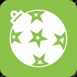 ball, celebration, christmas, decoration, gift, stars, xmas icon