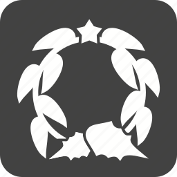 circle, crown, decoration, greetings, leaves, xmas decoration icon