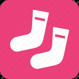christmas stocking, clothe, foot, sock, socks, winter icon