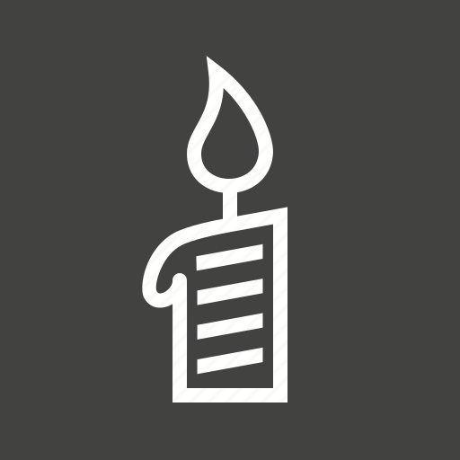 candle, candle light, celebration, decoration, flame, light, party icon