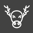decoration, home decoration, horns, moose, portrait, xmas icon