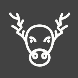 decoration, home decoration, horns, moose, portrait, xmas icon