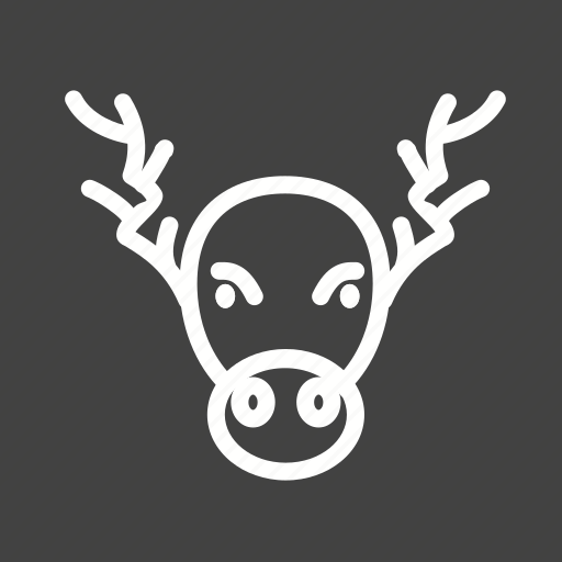 Decoration, home decoration, horns, moose, portrait, xmas, christmas decoration icon - Download on Iconfinder