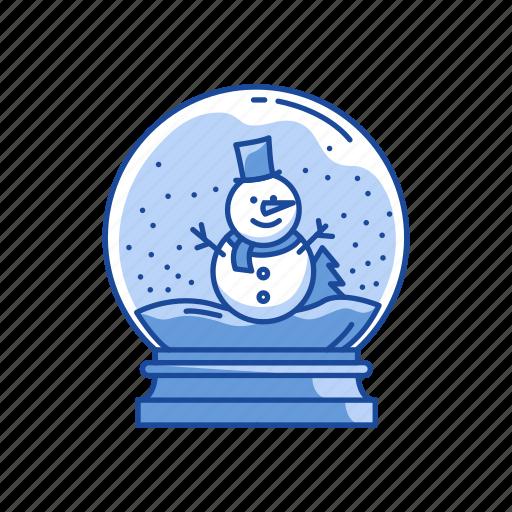 snow, snow globe, snow man, winter icon
